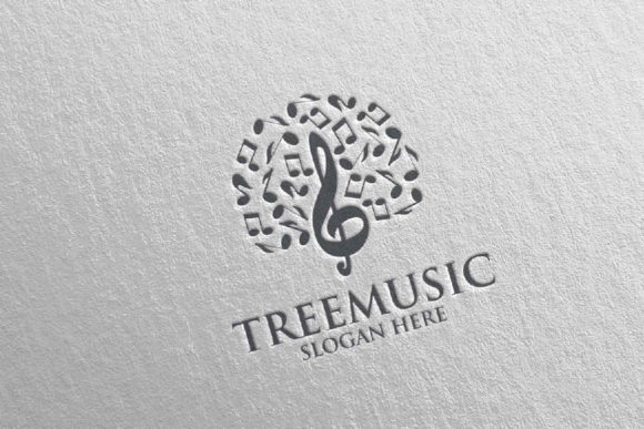Tree Music Logo with Note and Tree 51 Graphic Logos By denayunecf - Image 4