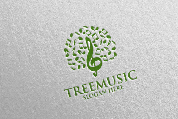 Tree Music Logo with Note and Tree 51 Graphic Logos By denayunecf - Image 5