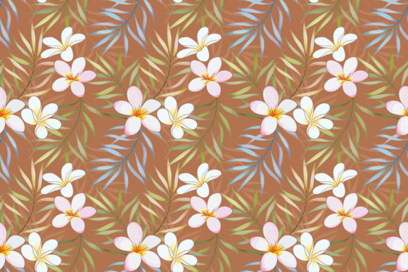 Download Free Tropical Leaves And Plumeria Flowers Graphic By Ranger262 for Cricut Explore, Silhouette and other cutting machines.