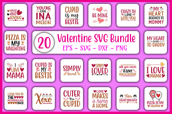 Download Free Valentine S Day Bundle Graphic By Graphicsbooth Creative Fabrica for Cricut Explore, Silhouette and other cutting machines.