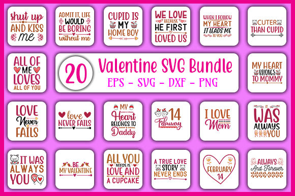 Print on Demand: Valentine's Day Design Bundle Graphic Crafts By GraphicsBooth