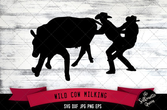 Download Free Wild Cow Milking Rodeo Svg Cowboy Svg Graphic By for Cricut Explore, Silhouette and other cutting machines.