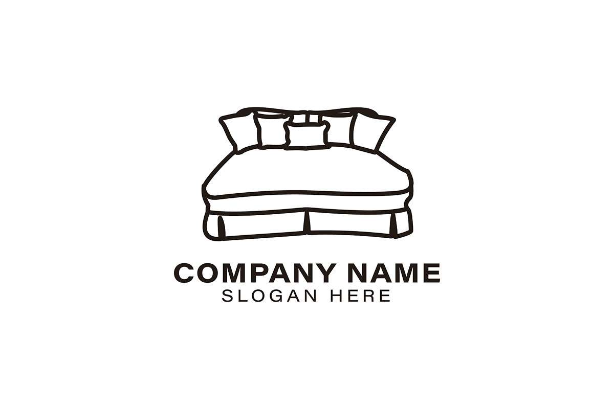 Download Free Bed Logo Ideas Inspiration Logo Design Graphic By for Cricut Explore, Silhouette and other cutting machines.