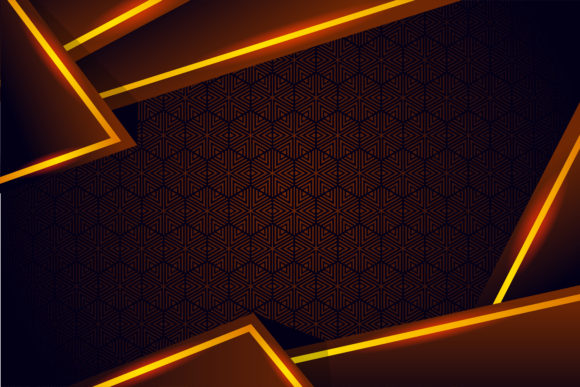 Print on Demand: Brown Gradient Yellow Geometric Graphic Backgrounds By noory.shopper