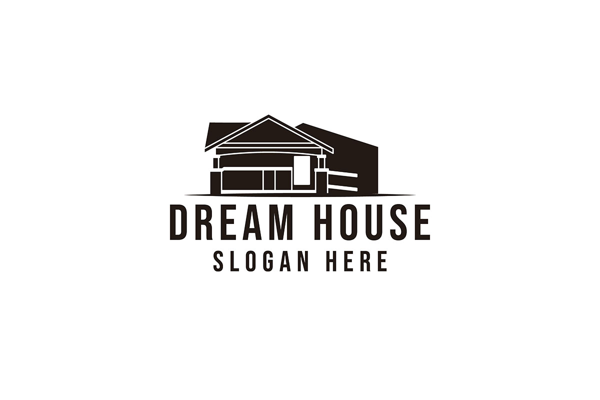 Download Free Classic Home Dream House Logo Ideas In Graphic By Yahyaanasatokillah Creative Fabrica for Cricut Explore, Silhouette and other cutting machines.