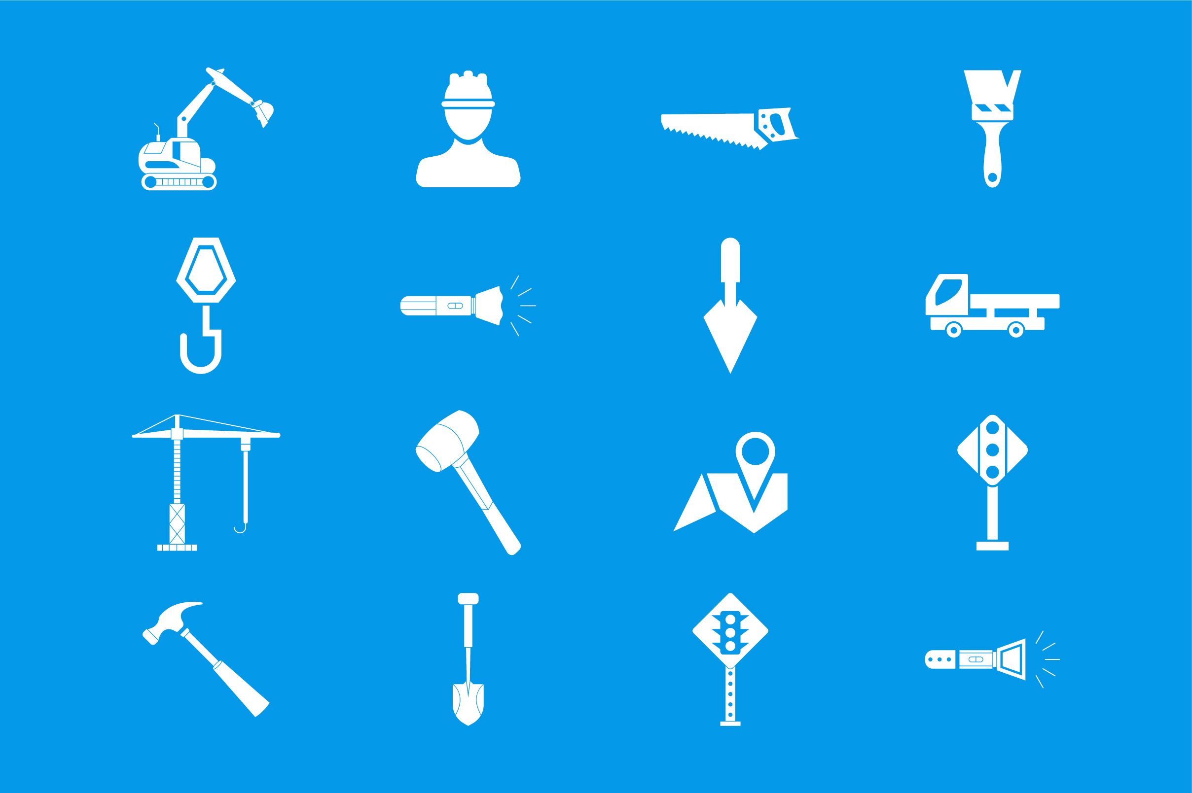 Download Free Construction Icon Set Vector Graphic By Riduwan Molla Creative for Cricut Explore, Silhouette and other cutting machines.