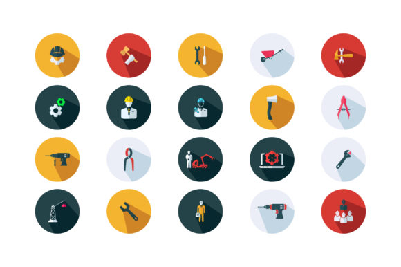 Download Free Contraction Ui Flat Icon Set Vector Graphic By Riduwan Molla for Cricut Explore, Silhouette and other cutting machines.