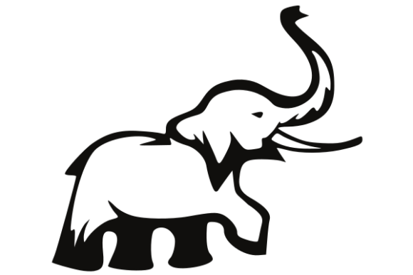 Download Free Elephant Icon Graphic By Masnung Creative Fabrica for Cricut Explore, Silhouette and other cutting machines.