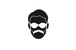 Download Free Father Masculine Mustache Logo Ideas Graphic By for Cricut Explore, Silhouette and other cutting machines.