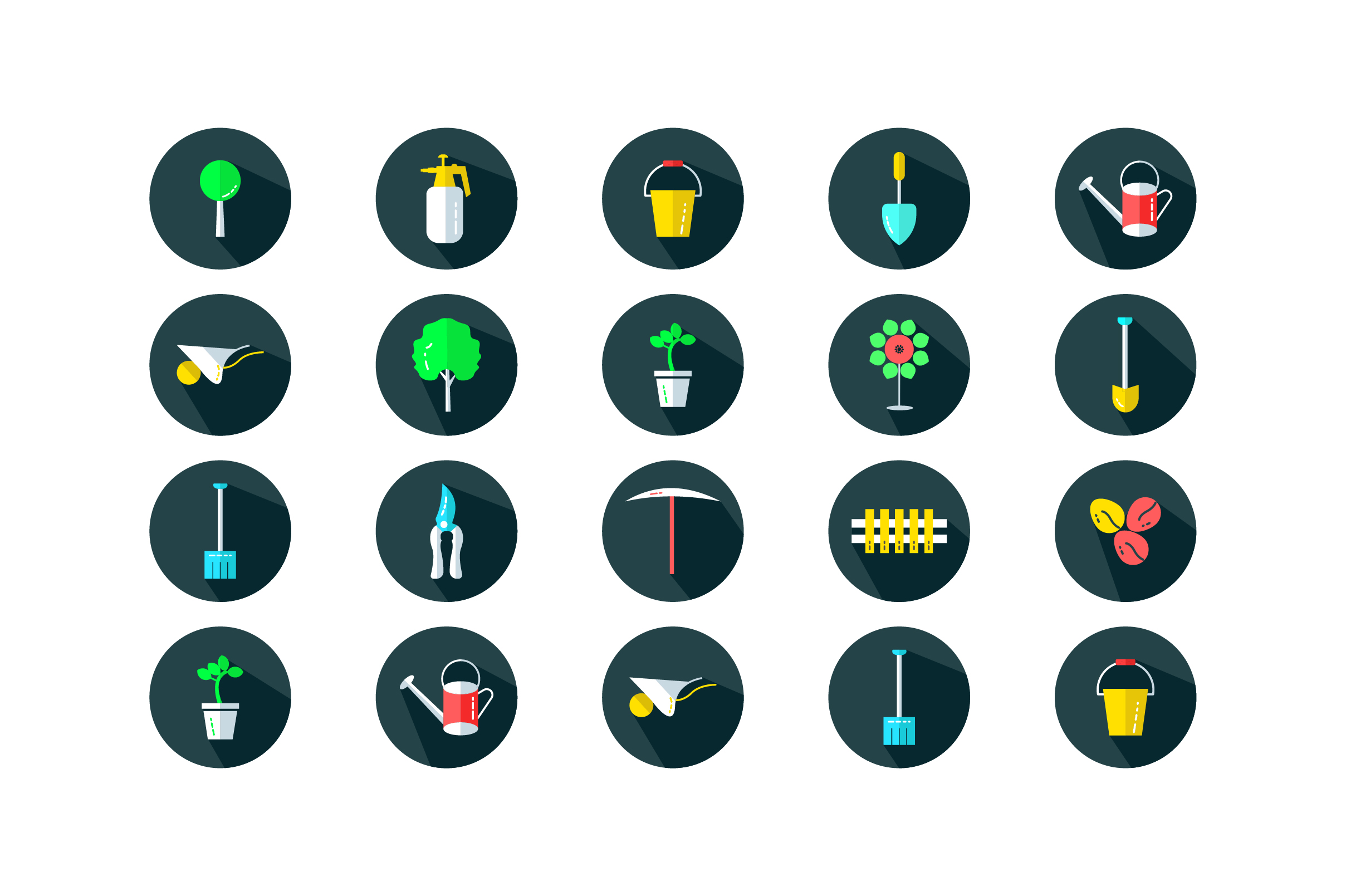 Download Free Garden Tools Ui Flat Icon Set Vector Graphic By Riduwan Molla for Cricut Explore, Silhouette and other cutting machines.