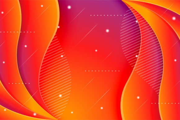 Print on Demand: Gradient Orange Red Purple Background Graphic Backgrounds By noory.shopper