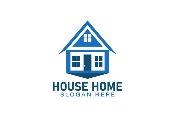 Download Free House Home Logo Ideas Inspiration Logo Graphic By for Cricut Explore, Silhouette and other cutting machines.