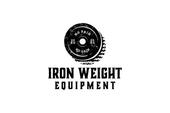Download Free Iron Weight Barbel Gym Fitness Logo Id Graphic By for Cricut Explore, Silhouette and other cutting machines.