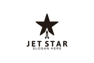 Download Free Jet Star Rocket Logo Ideas Inspiration Grafico Por for Cricut Explore, Silhouette and other cutting machines.