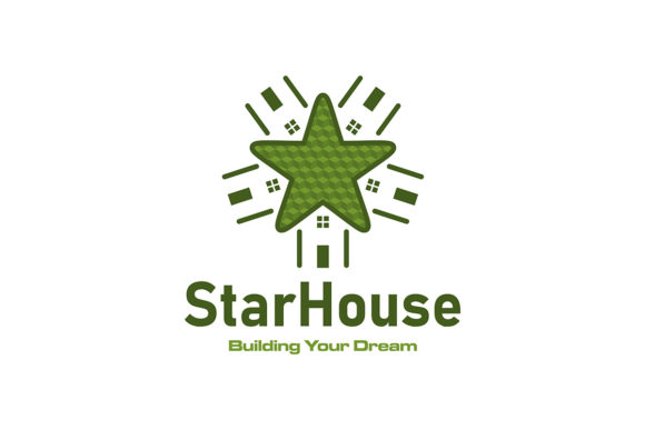 Download Free Star House Home Dreaming House Logo Ide Graphic By for Cricut Explore, Silhouette and other cutting machines.
