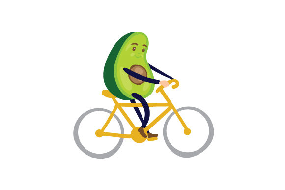 Download Free Avocado Cyclist Svg Cut File By Creative Fabrica Crafts for Cricut Explore, Silhouette and other cutting machines.