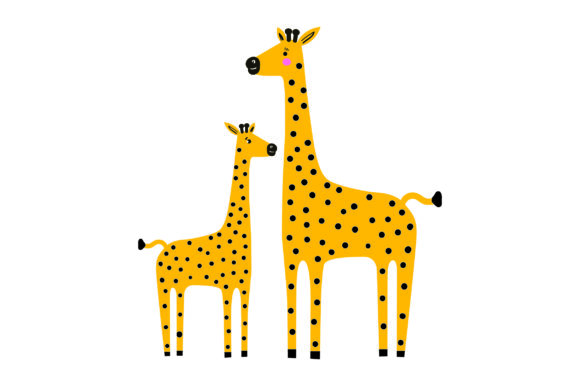 Mom and Baby Giraffes Animals Craft Cut File By Creative Fabrica Crafts