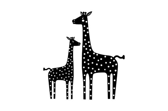 Download Free Mom And Baby Giraffes Svg Cut File By Creative Fabrica Crafts for Cricut Explore, Silhouette and other cutting machines.