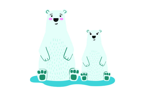 Download Free Mom And Baby Polar Bears Svg Cut File By Creative Fabrica Crafts for Cricut Explore, Silhouette and other cutting machines.