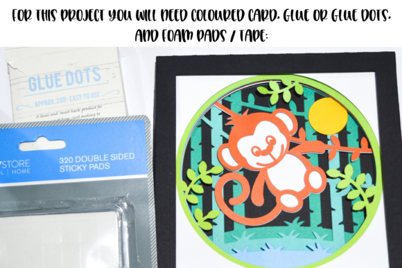Download Free 3d Monkey Shadow Box Design Graphic By Digital Gems Creative Fabrica for Cricut Explore, Silhouette and other cutting machines.
