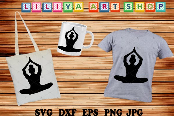 Download Free Afro Yoga Graphic By Liliyaartshop Creative Fabrica for Cricut Explore, Silhouette and other cutting machines.