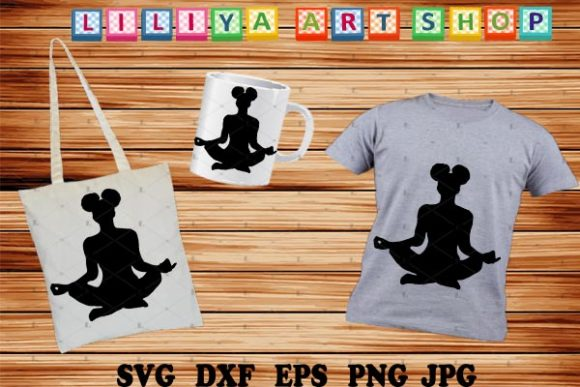 Download Free Afro Yoga Meditaion Graphic By Liliyaartshop Creative Fabrica for Cricut Explore, Silhouette and other cutting machines.