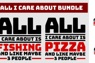 Print on Demand: All I Care About Bundle Graphic Product Mockups By colorsplash