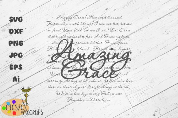 Download Free Amazing Grace Hymn Svg Laser Design Graphic By 616svg Creative Fabrica for Cricut Explore, Silhouette and other cutting machines.