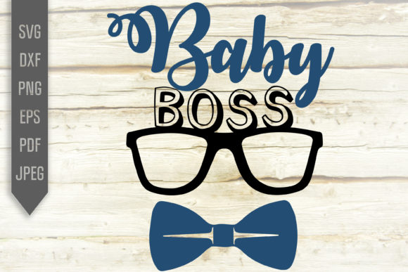 Print on Demand: Baby Boss Svg. Little Kid Shirt Design Graphic Crafts By SVGlaboratory