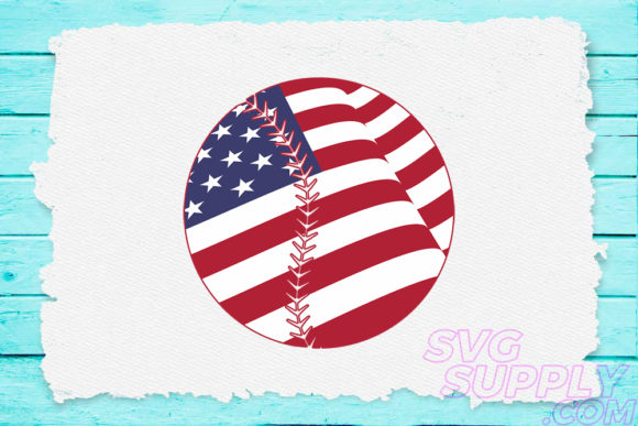 Download Free Baseball Flag For Baseball Tshirt Graphic By Svgsupply for Cricut Explore, Silhouette and other cutting machines.