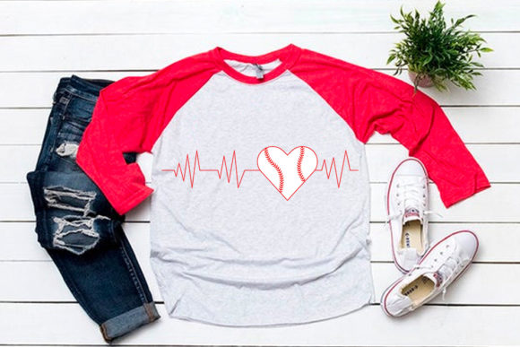 Download Free Baseball Heart For Baseball Tshirt Graphic By Svgsupply for Cricut Explore, Silhouette and other cutting machines.
