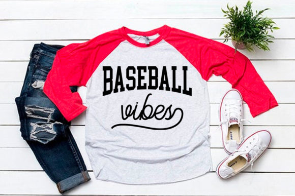 Download Free Baseball Vibes For Baseball Tshirt Graphic By Svgsupply for Cricut Explore, Silhouette and other cutting machines.