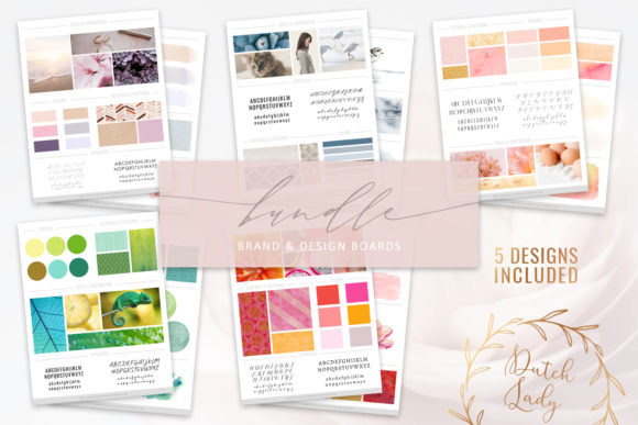 Print on Demand: Brand & Design Board Template Bundle Graphic Print Templates By daphnepopuliers