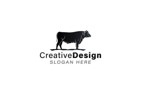 Download Free Bull Cow Angus Cattle Logo Ideas Graphic By for Cricut Explore, Silhouette and other cutting machines.