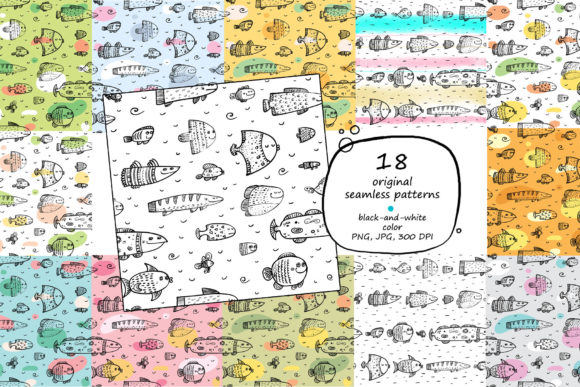 Download Free Calm Like A Fish Clip Art Patterns Graphic By Zooza Art for Cricut Explore, Silhouette and other cutting machines.