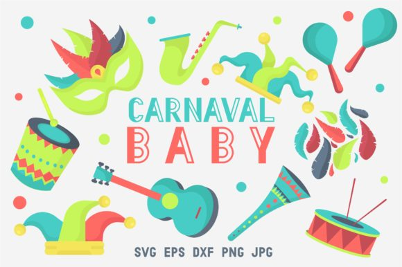 Print on Demand: Carnaval Baby - Mardi Gras Set Graphic Crafts By arausidp
