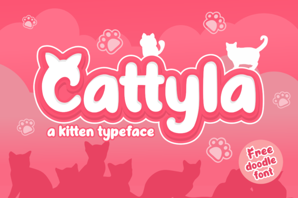 Print on Demand: Cattyla Display Font By Holydie Studio - Image 1
