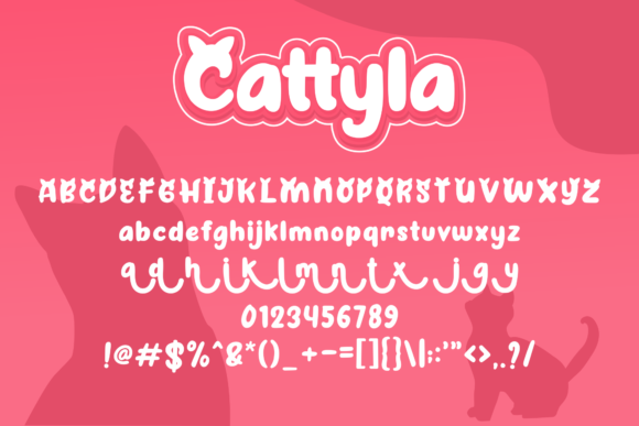 Print on Demand: Cattyla Display Font By Holydie Studio - Image 3