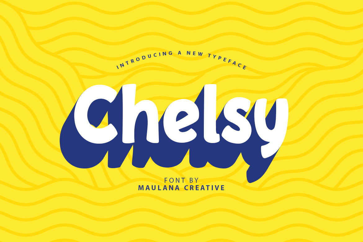 Download Free Chelsy Font By Maulana Creative Creative Fabrica for Cricut Explore, Silhouette and other cutting machines.