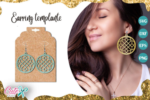 Circle Earrings Template Cut File Graphic Illustrations By Cute files