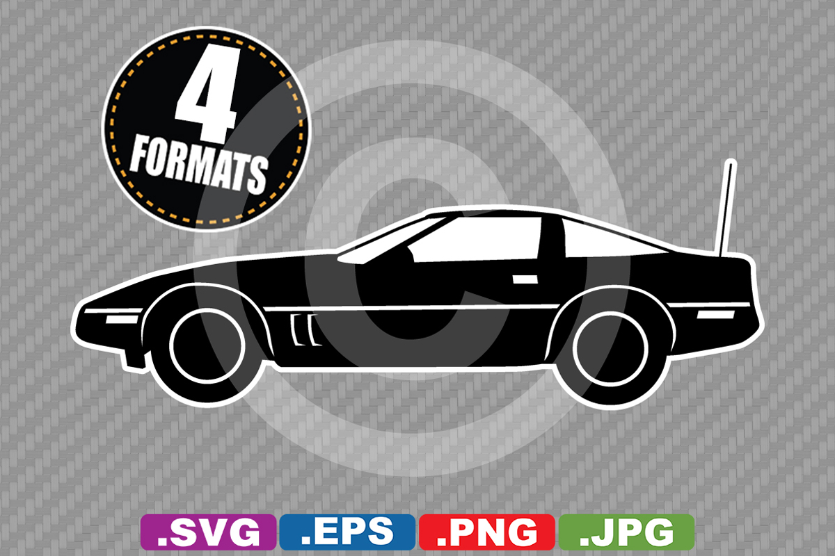Download Free Classic 1984 Sports Car Silhouette Graphic By Idrawsilhouettes for Cricut Explore, Silhouette and other cutting machines.