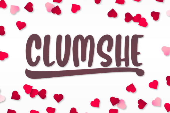 Print on Demand: Clumshe Display Font By Huntype