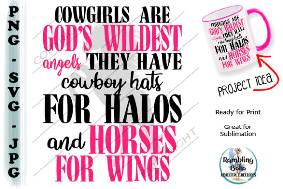 Cowgirls Are Heros Graphic Illustrations By RamblingBoho