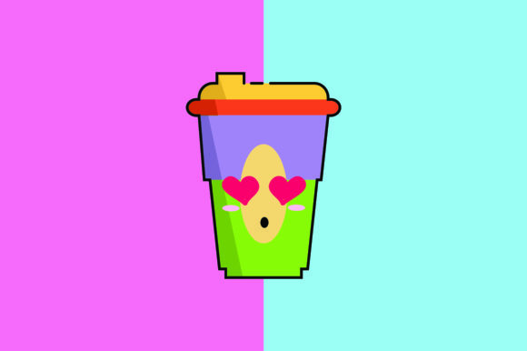 Download Free Cup Coffee Kawaii Cute Illustration Graphic By Purplebubble for Cricut Explore, Silhouette and other cutting machines.