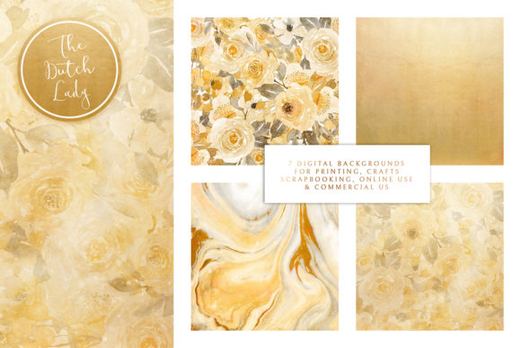 Print on Demand: Digital Backgrounds - Yellow & Gray Graphic Backgrounds By daphnepopuliers - Image 2