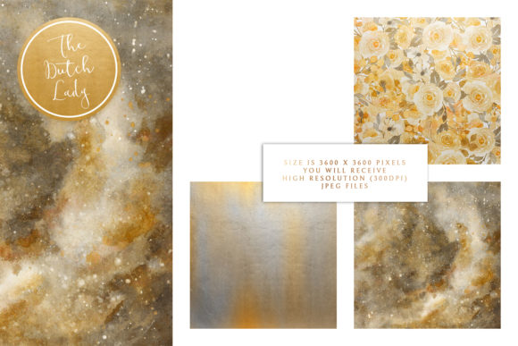 Print on Demand: Digital Backgrounds - Yellow & Gray Graphic Backgrounds By daphnepopuliers - Image 3