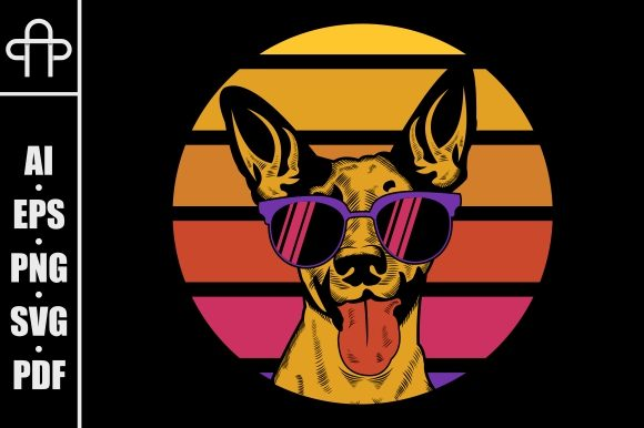 Dog Retro Illustration Graphic Illustrations By Andypp