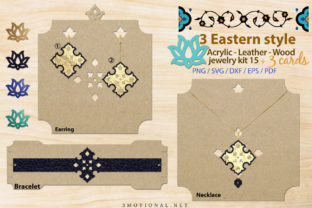 Print on Demand: Eastern Style Acrylic Leather Wood Kit15 Graphic Illustrations By 3Motional