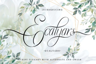 Print on Demand: Ecalyars Script & Handwritten Font By jehansyah251