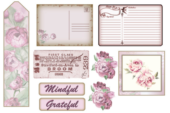 Download Free Ephemera Kit For Junk Journals Cards Graphic By Digitalcraftsco SVG Cut Files